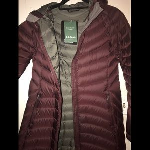 BNWT LL Bean Ultralight 850 Down Hooded Coat